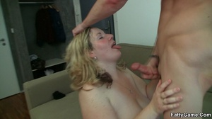 Chubby porn. She likes the way this slen - Picture 14
