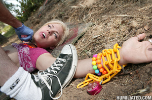 Squirt. Bitch gets ball gagged and fucke - XXX Dessert - Picture 5