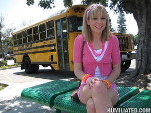 Squirt. School chcik gets taped up and m - XXX Dessert - Picture 1