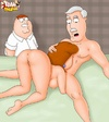 Naked toon Lois Griffin practicing her sucking and fucking skills.