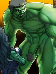 She-Hulk toon babe willingly pleasing huge dong of a - Picture 4