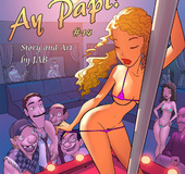 Comics porn. Gils in striptease club show all they've got!