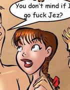 Sexy cartoons. You don't mind if I go fuck Jez?