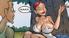 Sex comic stories. Beautiful cartoon girl with big breasts, butt zagaret