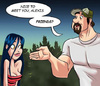 Adult cartoon comic. Girl flirts with her new friend ... what will this