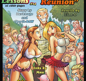 Comics for adults. Housewives who walk in short skirts and shorts to seduce