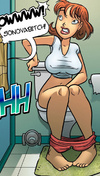 Comic for adults. Sex bomb that wants to fuck her.
