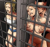 Slave girl. Those who try to escape get the sheriff's hard treatment -