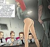 Bondage toons. Redhead girl humiliated by cruel torturer!