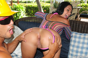 Latinas horny. Round booty milf in pinky - XXX Dessert - Picture 11