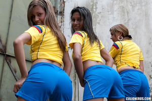 Latina galleries. Two football girl have - XXX Dessert - Picture 1