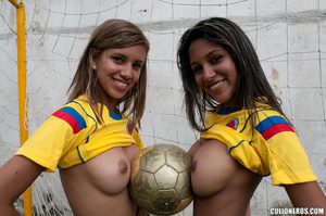 Latina galleries. Two football girl have - XXX Dessert - Picture 7