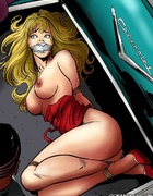 Slave cartoons. Blonde stunning beauty captured and fucked by a criminals!
