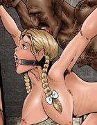 Slave girl comics. Hold her tight bro! I'm gonna show this spoiled pussy