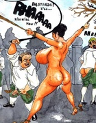 Free bdsm comics. A dunce's cap and the bells on your oversized melons!