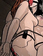 Humiliation comics. Two slave girl get gag balls in their mouthes!