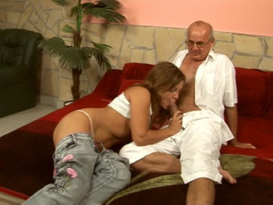 Teen sex porn kinky brunette salome fucking with old grandpa