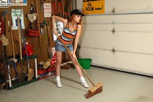 Rita Lovely Gets Broom Handle Rammed in  - XXX Dessert - Picture 1