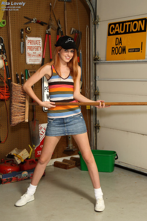 Rita Lovely Gets Broom Handle Rammed in  - XXX Dessert - Picture 2