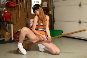 Rita Lovely Gets Broom Handle Rammed in  - XXX Dessert - Picture 8