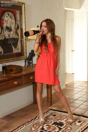 Melanie Rios Panty Stuffing and Wine Bot - XXX Dessert - Picture 4