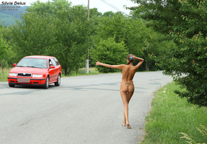 Silvie Delux Nude Hitchhiking and Gaping - XXX Dessert - Picture 6