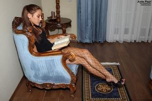 Anita Pearl in Fishnets Stuffs Panties - XXX Dessert - Picture 1