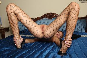 Anita Pearl in Fishnets Stuffs Panties - XXX Dessert - Picture 11