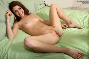 Kymberly Wood in Fishnets Spreads and Ga - XXX Dessert - Picture 11