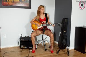 Rocker Girl Jessie Rogers in Fishnets Ge - XXX Dessert - Picture 2