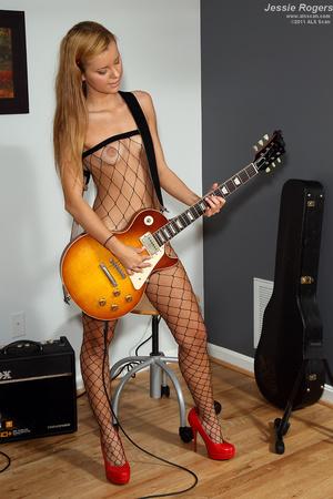 Rocker Girl Jessie Rogers in Fishnets Ge - XXX Dessert - Picture 6