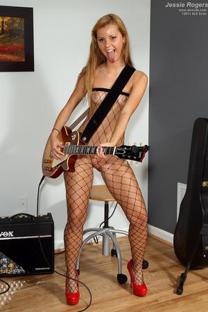 Rocker Girl Jessie Rogers in Fishnets Ge - XXX Dessert - Picture 7