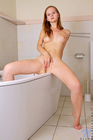Teen Alla teases her wet pussy with the  - XXX Dessert - Picture 5