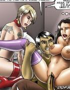 Bdsm cartoons. Man fucks slave in fron of his sexy wife!