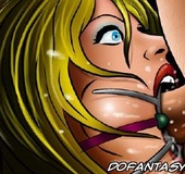 Torture drawings. Slave girl gets ring gag and was deepthroated!