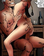 Bdsm comics. Honey brunette holding a toy home and fuck whenever you want