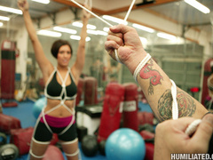 Brunette MILF gets tied up and fucked hard - Unique Bondage - Pic 1