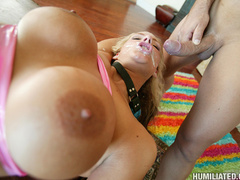 Hot mom with blonde pussy gets wrecked by a - Unique Bondage - Pic 15