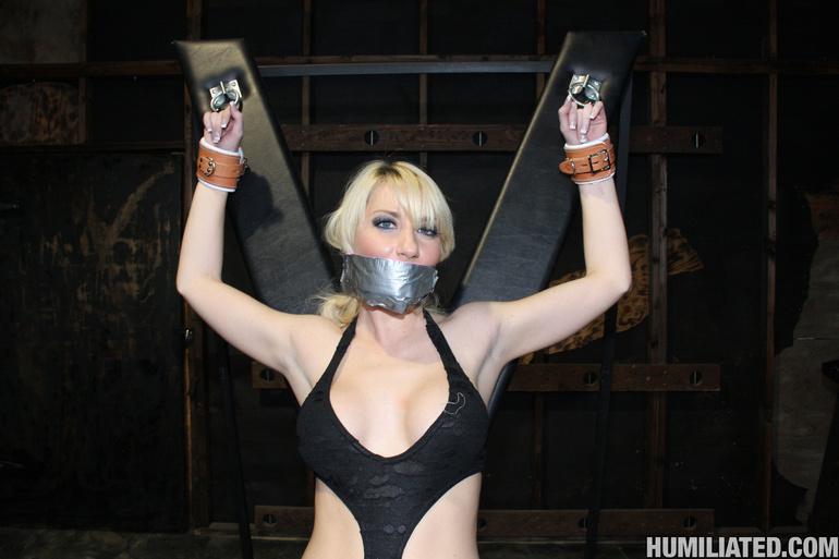 Dirty slut disgraced with monster cumshots! - Unique Bondage - Pic 2