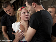 Casey Cumz sneaks into the armory for some - Unique Bondage - Pic 1