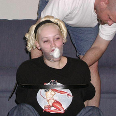 Fresh amateurs bound and gagged and in pain - Unique Bondage - Pic 15