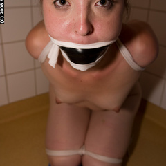 Marie tied and tape gagged - Unique Bondage - Pic 6