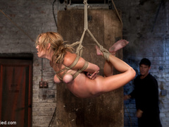 Bratty 19yr old, bound on her knees and made - Unique Bondage - Pic 10