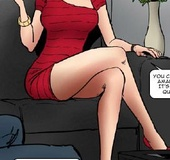 Slave art. A neat butt mom is very beautiful in that red dress.
