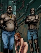 Slave girl comics. In a colony of prisoners brought a new product, naked