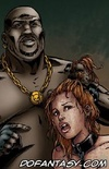 Bondage comics. Pair of healthy blacks fuck little girl with big tits.