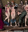 Bdsm art drawings. Great Negro came to choose a slave for sexual pleasures!