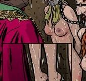 Humiliation comics. Cute blonde tied up and kept in the basement and humiliated