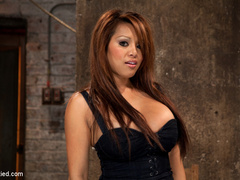 Hot Asian with huge tits and a tight shaved - Unique Bondage - Pic 2