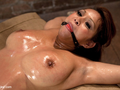 Hot Asian with huge tits and a tight shaved - Unique Bondage - Pic 9